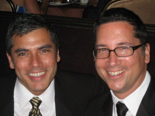 Frank Sanchez, left and Brad Bessey, co-executive producer of Entertainment Tonight.