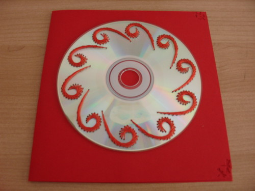 CD bordado ~ CD Embroidery (by Orquidea)