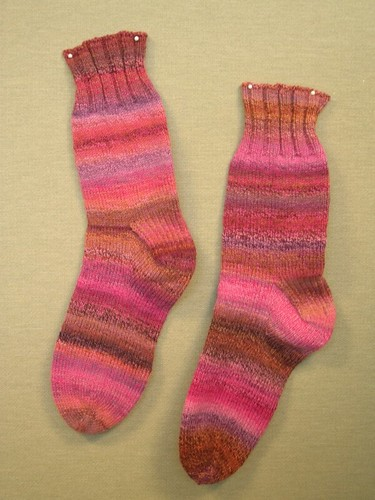 handspun socks (by aswim in knits)