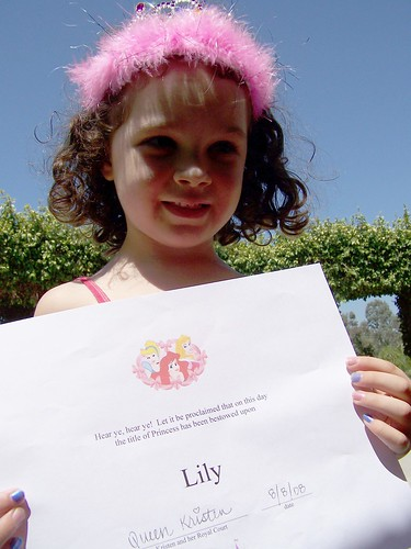 Getting her Princess Diploma