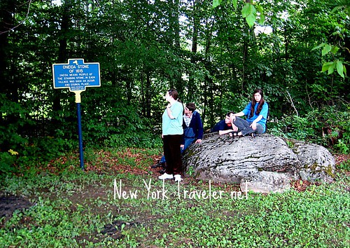 Kids at the Oneida Stone Altar 1