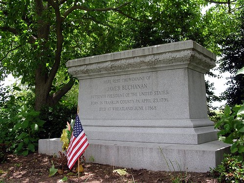 James Buchanan's tombstone