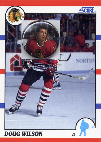 Doug Wilson, Chicago Blackhawks, Score 90-91, hockey, one inch pins, buttons,