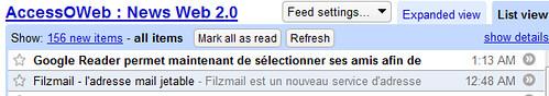 google reader accessoweb