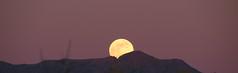 Las Cruces, NM (Doctorlo) Tags: sunset moon mountain newmexico rock night desert luna fullmoon desierto lunallena arid lascruces arido organmountains