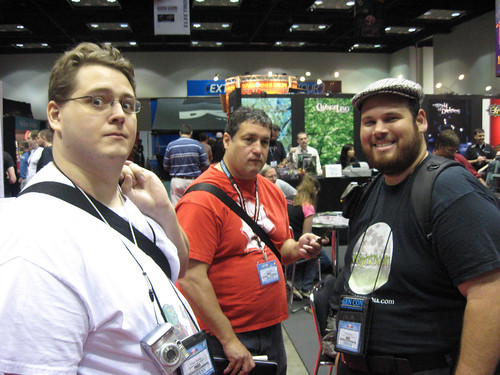 Ethan Parker, Victor Cantu & Me at the White Wolf Booth