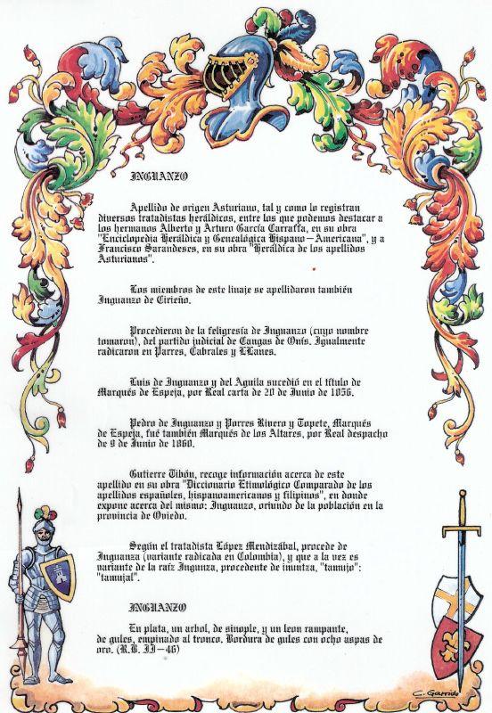 Heraldica Inguanzo