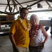 Cal and I in our leis!