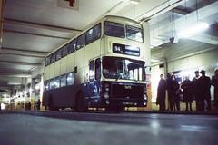 Caption Competition (georgeupstairs) Tags: bus dark volvo birmingham grim crowd gloom ailsa alexander 1977 onlookers 4783 jov783p wmpte westmidlandspte midlandredbusstaton
