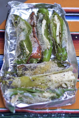 Chile Rellenos Ready for Grilling