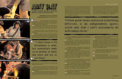 Velvetpark - Summer 2005 issue: Amy Ray spread (tgifreytag) Tags: magazine layout design amyray indigogirls unzip freytag velvetpark