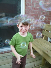 Geoffrey Playing With Bubbles (DNAMichaud) Tags: backyard bubbles geoffrey