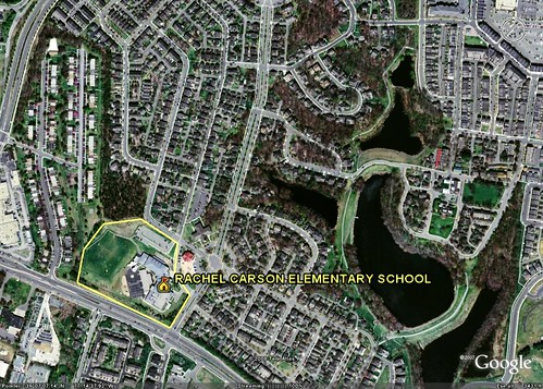 Kentlands, Gaithersburg, MD (underlying image from Google Earth)