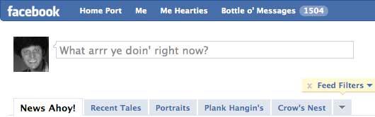 Facebook & Talk Like a Pirate Day