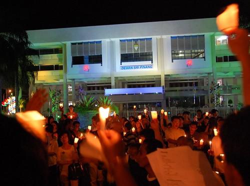candlelight vigil, penang