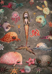 *SEA LIFE* (VLADIMIR... . . .) Tags: life sea fish color art animals illustration painting star design artwork graphic drawing illustrator mermaid packed rus