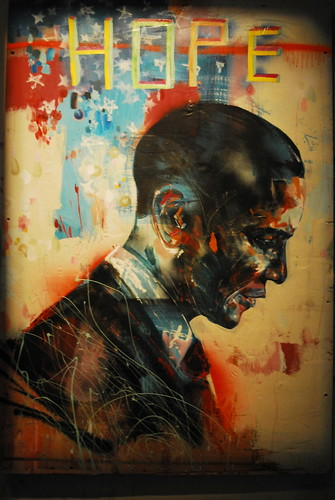 Obama Street Art from Stribs on Flickr