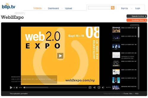 web2.0 expo videos bei bliptv