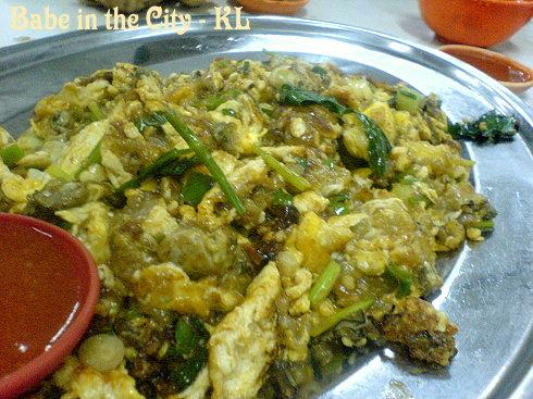 BK - oyster omelette
