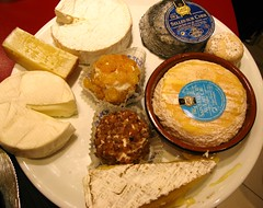 We ate all this cheese in Paris, France