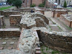 St. George Church - roman ruins in the yeard (The Traveling Frog - Rossitza and Stevan Olson) Tags: architecture buildings downtown sofia eu bulgaria easterneurope culturaltourism eusofia balkanstravel