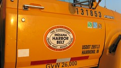 Indiana Harbor Belt Railroad maintenance of way department truck. Argo Yard. Summit Illinois. September 2008.