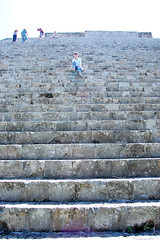 Me on pyramid steps @ Uxmal