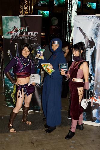 Trois modèles promotionnels déguisés en Ninja