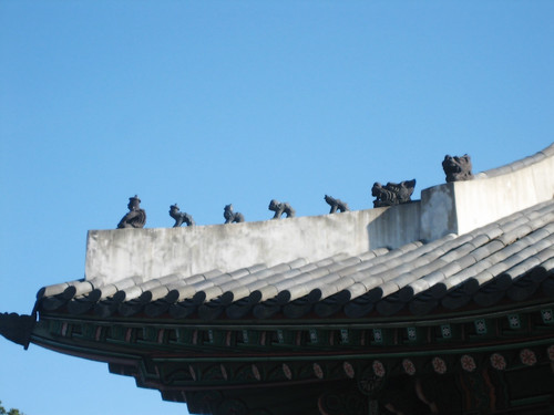 Figurines on Jinseonmun Gate
