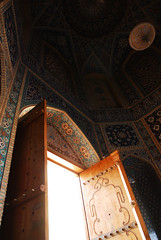 (Recovering Sick Soul) Tags: door art iran mosque shiraz    nima    fars tileart fatemi  persianart shahcheragh   iranianart shahecheragh  nimafatemi     upcoming:event=1070966