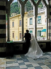Wedding in Amalfi , Italy (moonjazz) Tags: wedding two italy love church beauty groom bride town cathedral ceremony culture romance together gown occasion broom almafi mywinners colourartaward flickrlovers