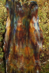 Rusty rock (ingermaaike2) Tags: blue white green wool yellow felted scarf rust felting handmade felt merino shawl dyed norsk reen handdyed wetfelted husflid hndlaget ingermaaike