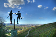 Sculptures (Axxolotl) Tags: sculpture art germany deutschland kunst natur skulptur vineyards statuen hdr figuren badenwrttemberg badenwuerttemberg weinberge skulpturen nuss wengert remstal weinstadt strmpfelbach skulpturenpfad remsmurrkreis