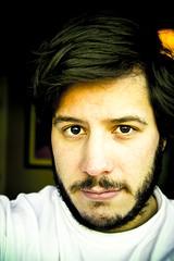 transition [self portrait] (Christopher Empson) Tags: selfportrait male me face self myself beard wig facialhair transition crossroads unkempt selfie 28105mm i canonxti
