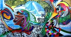 Dubai: Mural at the Jam Jar (Albus Cavus) Tags: streetart graffiti mural dubai middleeast publicart aerosol albuscavus participatoryart
