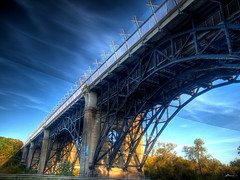 bloor viaduct (paul bica) Tags: bridge trees sky toronto color colour art colors beautiful beauty clouds digital photoshop outdoors yahoo google amazing graphics flickr colours pages prince best viaduct collection edward clipart thumb sensational thumbnails msn dvp savers flikr brilliant flick dex flicker 1012 bloorstreetviaduct dexxus 13711hdr