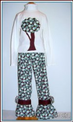 CRISP Apples~Girls Cord Pant & L/S Top Set~Size 7/8/9