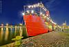 The red café (Rob Orthen) Tags: night suomi finland evening boat helsinki nikon europe cityscape harbour rob tokina explore bluehour helsingfors scandinavia dri hdr d300 photomatix 1116 orthen roborthenphotography tokina1116 tokina1116mm28