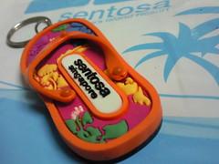 Sentosa slipper keychain