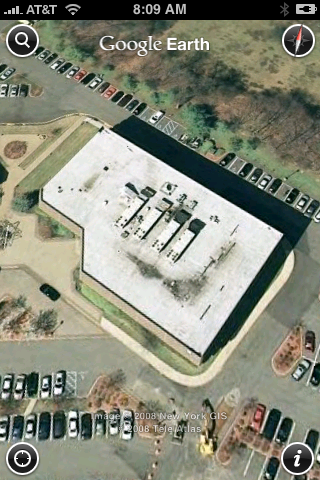 Google Earth on iPhone