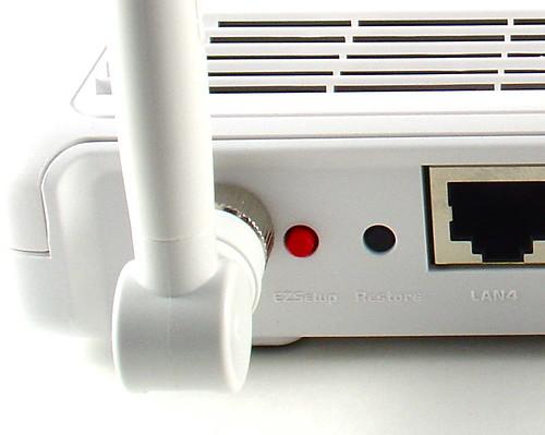 WL-520GU Restore Button Closeup