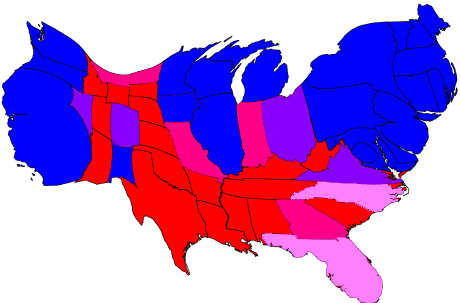 fivethrityeight election polling cartogram