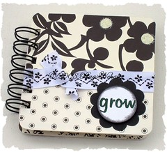 """grow"" Black & White Post It Notes Holder"