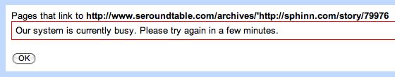 Google Webmaster Tools Bug