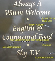Sign outside the Duke of York.