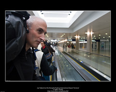 Jay Tedeschi at the Shanghai Pudong International Airport Terminal
