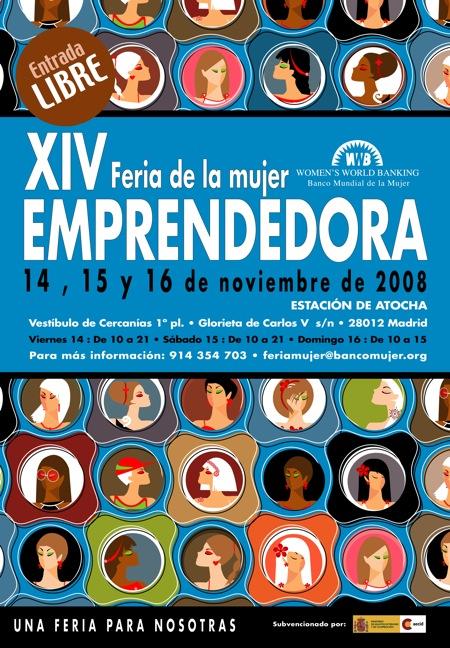 Cartel XIV feria de la mujer emprendedora 2008