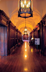 Regal Hallway (Tomitheos) Tags: november toronto ontario canada castle architecture buildings photography flickr avatar stock picture royal images daily hallway frame capture now today 2008 monarchy regal shaft hardwood secretpassages casaloma vanishingpoints luminosity centralperspective oldcentury anawesomeshot crystalaward tomitheos spookyhauntedplaces monarchial chandelliars crystalchandelliar softglowinglights torontosmajesticcastle 98roomcasaloma canadasfamouscastle decoratedsuites statelytowers estategardens