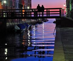 Burano tramonto (daniele romagnoli) Tags: italien venice sunset italy silhouette reflections veneza canal italia tramonto purple laguna venise venecia v