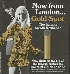 Gold Spot - 1967 (rchappo2002) Tags: london vintage magazine ads advertising gold 60s breath ad spot retro advertisement commercial advert 1967 1960s freshener